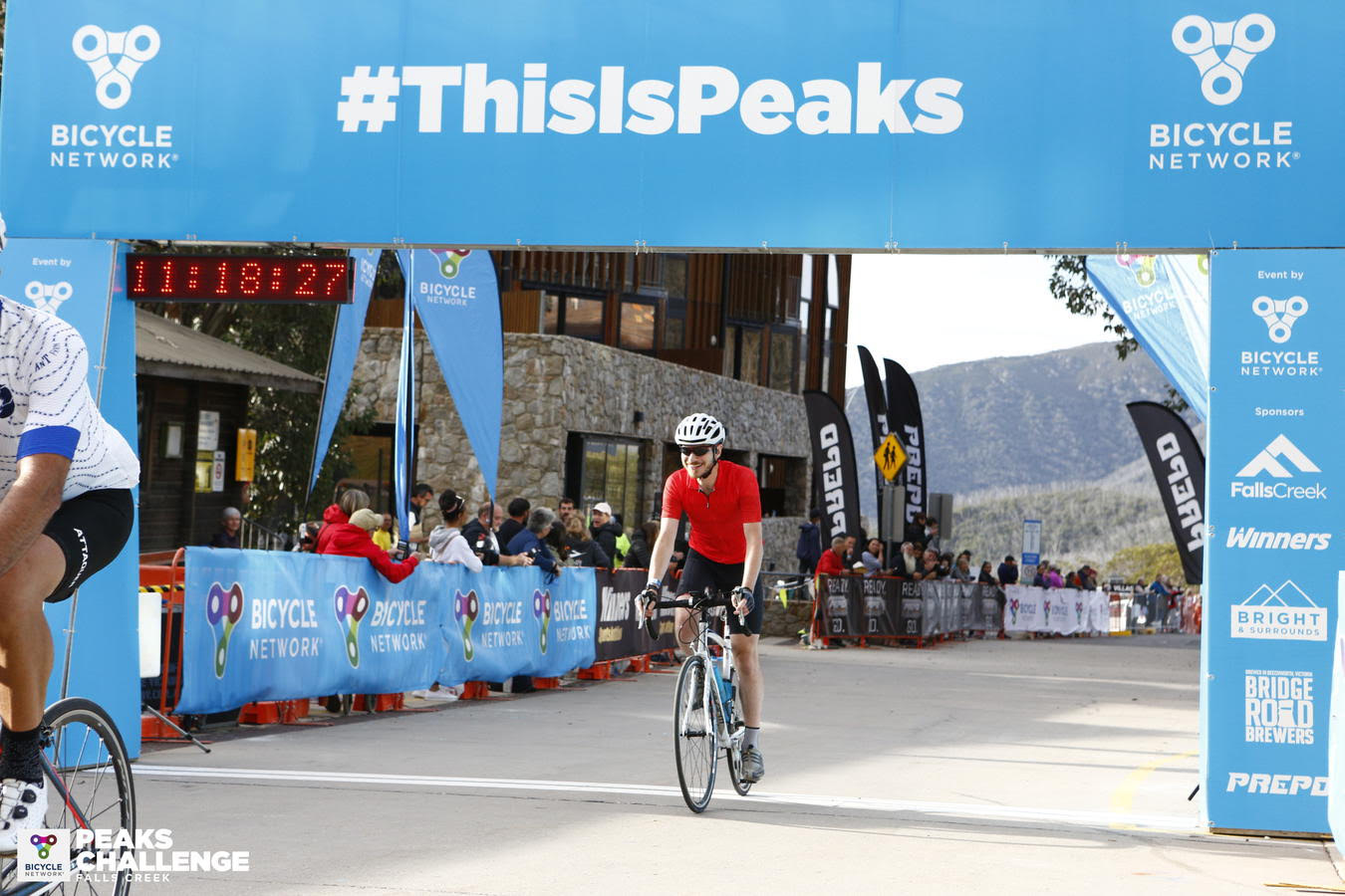 Nathan Sgarlata, doing what he loves – riding up mountains on his road bike