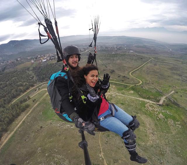 Ninoshka Serrao paragliding in Turkey